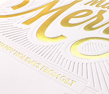 Gilt Holiday Card
