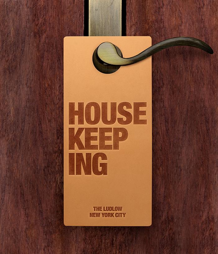 Ludlow Housekeeping Door Hanger
