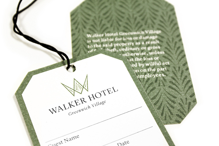 Walker Hotel Luggage Tags