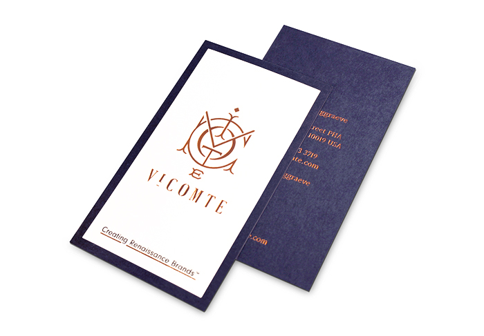 Vicomte Business Cards