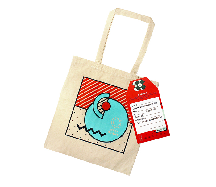 New Stand Tote bags and Hang Tags