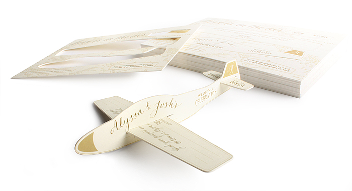 Plane Wedding Invite